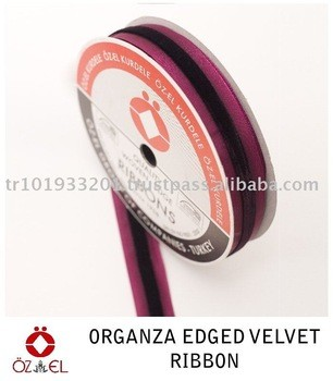 Organza Edge Velvet Ribbon