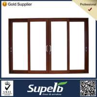 Soundproof Interior Sliding Wood Glass Door Models