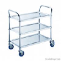 PRCL3 threetier stainless steel kitchen trolleyround tube Manufacturer