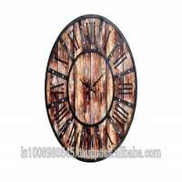Large rustic wooden wall clock distressed 24 Inch Manufacturer