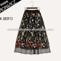 long flare skirt embroidered design  Manufacturer