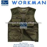 Cool Men Outdoor Fishing Vest Cotton Autumn Men Vest Multi Pockets Outdoor Waistcoat Photography Vest Manufacturer