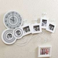 Hanging Decorative Photo Frame Wall Clock
