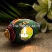 Terracotta handpainted tea light holder Manufacturer