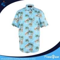 cotton printed hawaiian men casual shirts Manufacturer