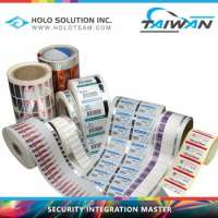 Micro Text Hologram Sticker VOID Barcode Plastic Roll Manufacturer
