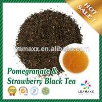 Pomegranate & Strawberry Black Tea Tapioca Pearls Bubble Milk Tea