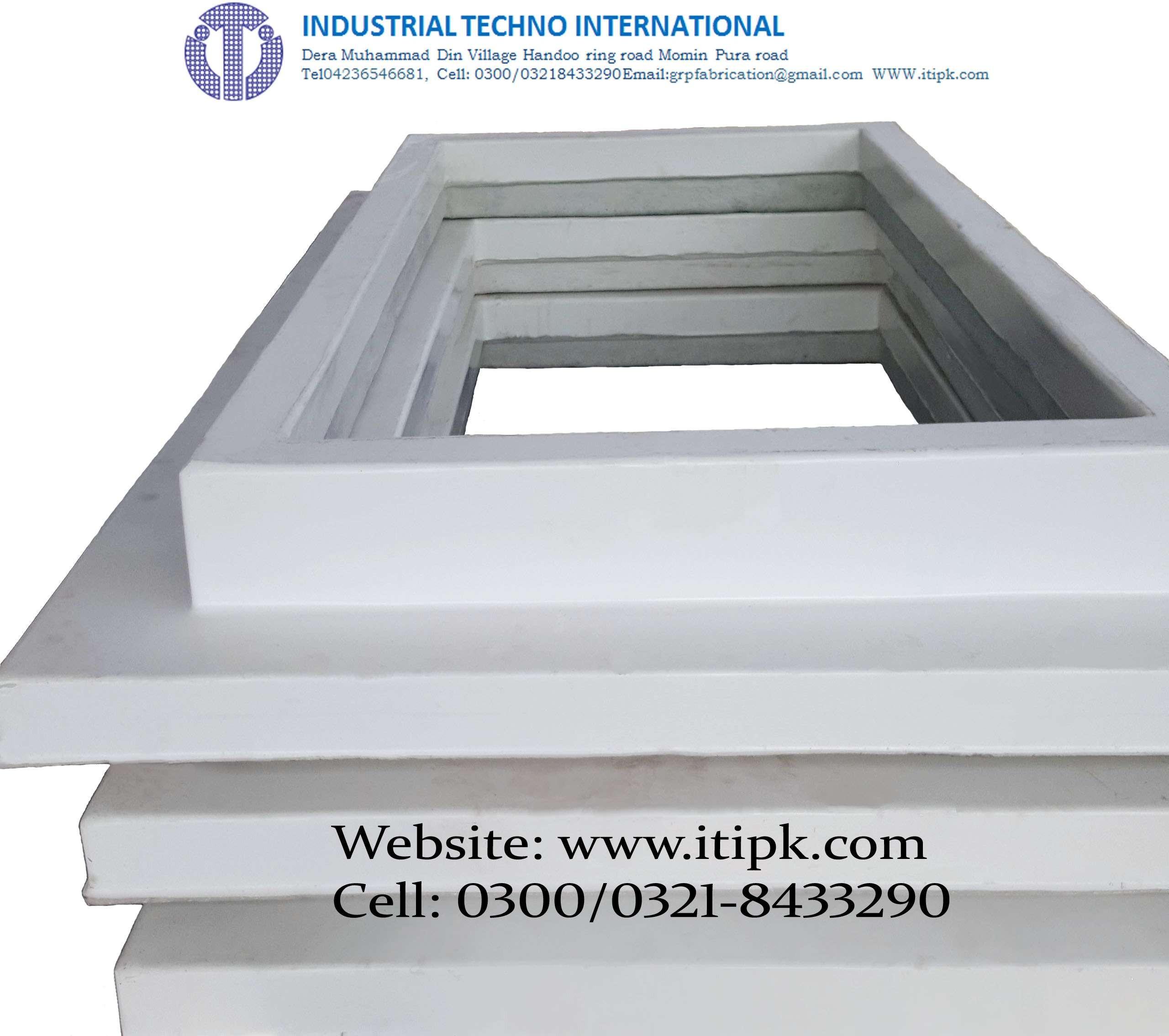 Fiberglass Concrete shed Roofing Curb Size 4' x 2'
