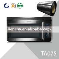 AntiFingerprint black Stainless Steel Microwave