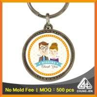Key Chain Small Gifts Wedding Souvenir Printing Zinc Alloy Key Holder Manufacturer