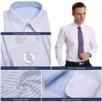 Lasest Design Men's Business Shirt Stripe Business Shirt  Manufacturer