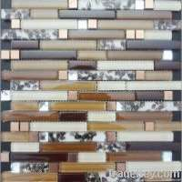Crystal glass mix sea shell mosaic tile Manufacturer