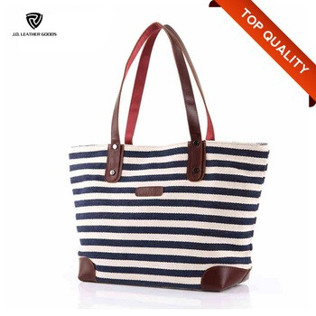 ca88ede5fb5372 Lady Leather Handle Canvas Tote BagCotton Canvas Tote BagWaxed Canvas Tote  Bag