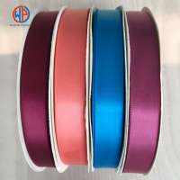 High quality 2.5cm 1 inch solid color double or single faced satin ribbon Manufacturer