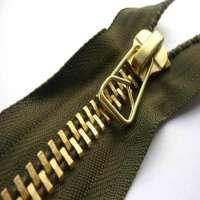 metal zipper for garments