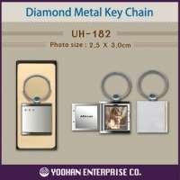 Diamond Metal Photo Key Chain Manufacturer