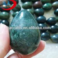 Yoni Gemstone Egg green agate semi precious stone brown stone eggs kegel exercisevaginal exercise ben wa balls Manufacturer
