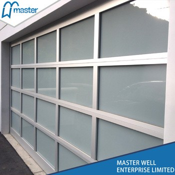 Aluminum Lift Automatic Glass Garage Door From Master Well