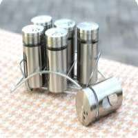 7pcs glass spice jar steel stand  Manufacturer