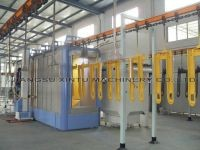 Automatic powder coating booth coating cabin