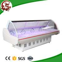 Commercial fresh meat or fish display chillerfish display cooler