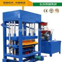diesel engine concret hollow block making machine