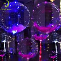 18inch Luminous Transparent bobo Led bubble balloons party wedding decoration Manufacturer