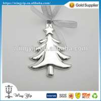 Christmas Tree Ribbon Metal Christmax Gift Ornament