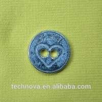 engraved design Metal Shirt Button