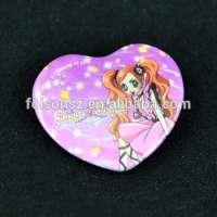 manufacturer customized cute heart metal pin badge Manufacturer
