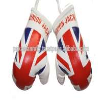 Country Flag Mini Boxing Gloves Car Hanging Key Chain  Manufacturer