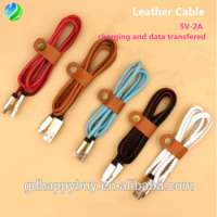 pu leather charging usb data cable iphone Manufacturer