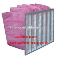 Hvac ventiilation system g4 f9 pocketbag filter v shape filter Manufacturer