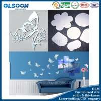 wall mirror acrylic rangoli designs Manufacturer