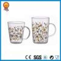 Floral Design Glass Cup Handle Manufacturer