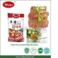 MUI Halal Granulated Chicken Shrimp Powder Beef Bouillon seasoning condiment spice Manufacturer