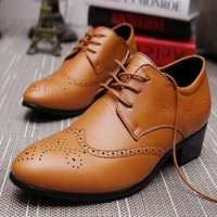mens formal leather Oxfords shoes