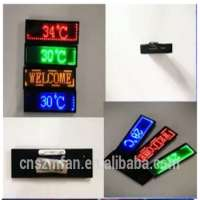 Digital led small screen chest badge