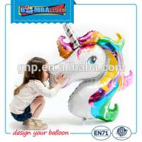 animal shape unicorn foil helium balloon party balloon Manufacturer