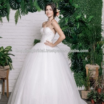 3cf01bd081 Lace And Pearls Embroidered Wedding Dress Sweetheart Tulle Bridal Ball Gown  From HOP GIANG ARTS AND FASHION JOINT STOCK COMPANY