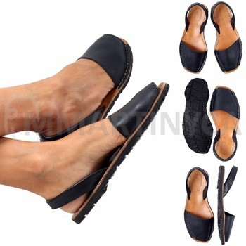 891859aa987 Leather Sandals BLACK MMARTINYCA Avarca Spanish Sandal From Portalent  Business S.L