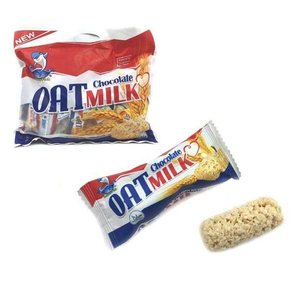 crispy sweet snack milk oat chocolate candy stick with individual packing