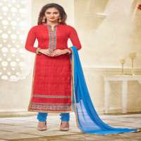 Chemically GPO Embroidered Long Straight Designer Salwar Suit Manufacturer