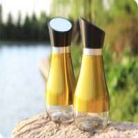 2pcs Glass Spice Condiment Set Stainless Steel Coating Manufacturer