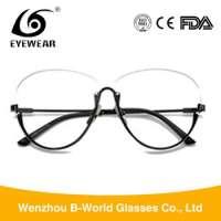 designer spectacles frame metal half frame