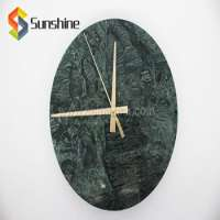 Green Marble Decorative Wall Clock Manufacturer
