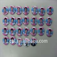 football player printed metal badge button Manufacturer