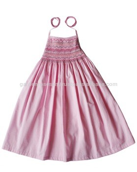 Children Frocks Designs Boutique Outfits Cotton Girls Pink Smocked Dress fc5e449b1