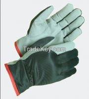 sheepskin leather gloves safety or labour