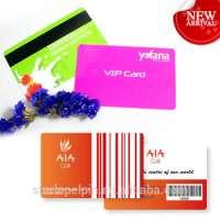 plastic pvc printing barcode membership card